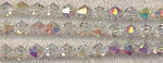 8mm Crystal Bicone Beads Strand, CRYSTAL AB