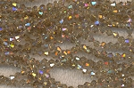 4mm Crystal Bicone Beads LIGHT Brown TOPAZ AB Strand - CLEARANCE