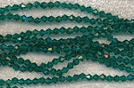 4mm Bicone AQUA TEAL Crystal Beads