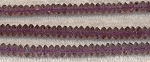 Crystal Spacer Beads, 6mm AMETHYST, Full Strand 120+ Beads, CLOSEOUT
