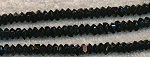 Crystal Spacer Beads, 6mm JET BLACK, Full Strand, CLEARANCE