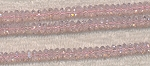 6mm Crystal Spacer Beads, PINK LIGHT ROSE Crystal Beads