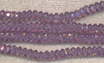 Crystal Spacer Beads, 7mm ALEXANDRITE Effect, Full Strand, CLEARANCE