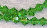 SOLDOUT - 8mm Bicone LIGHT EMERALD GREEN Crystal Beads - CLEARANCE