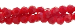 3mm Round Crystal Beads, OPAQUE RED