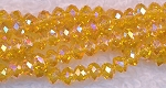 4mm Rondelle Crystal Beads, CANARY YELLOW AB