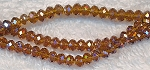 Chinese Crystal Rondelle Bead Strand, TOPAZ AB, 3x4mm