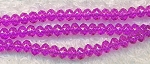 4mm Rondelle Crystal Beads, HOT PINK