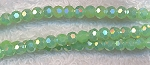 4mm Round Crystal Beads, SEAFOAM AB Green