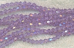4mm Crystal Bicone Beads LIGHT LAVENDER Faceted Chinese Crystal Beads 75+ Beads per Strand