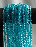 8mm Crystal Bicone Beads Strand, AQUAMARINE BLUE