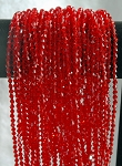 4mm Crystal Bicone Beads Strand, RED