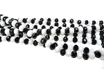6mm Rondelle Crystal Beads, TUXEDO BLACK and WHITE