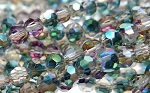 4mm Round Crystal Beads Strand, MYSTIC TOPAZ PURPLE TEAL