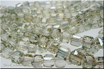 6mm Cube GOLDEN GLOW Crystal Beads