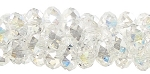 Crystal Beads 6mm Crystal AB Rondelle Beads - CLEARANCE