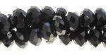 Chinese Crystal Rondelle Bead Strand, BLACK, 3x4mm