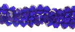 6mm Rondelle Crystal Beads, COBALT BLUE - CLEARANCE