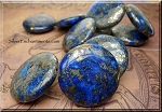 Lapis Lazuli Beads, Large 40mm Lapis Focal Bead with Pyrite Inclusions (1) - CLEARANCE