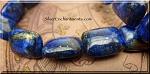 Lapis Lazuli Focal Beads, Lapis 20x15mm Rectangle Bead with Pyrite Inclusions, Gemstone Beads (1) - CLEARANCE
