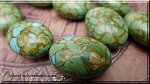 Mosaic Turquoise Focal Bead Pendant 30x20mm Oval