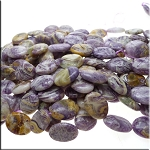 Flower Jasper Beads, 20x15mm Oval Beads - CLEARANCE