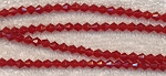 RED 4mm Bicone Glass Beads, Strand, CLEARANCE