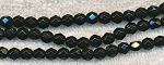 6mm BLACK Faceted Round Beads