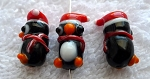 Penguin Beads, Lampworked Glass Penguin Bead, Christmas Beading Supplies (1)