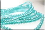 4mm Glass Pearls, LIGHT BLUE - CLEARANCE