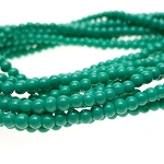 4mm Glass Pearls, Opaque TURQUOISE Glass Pearls