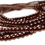 4mm Glass Pearls, DARK BRONZE Glass Pearls