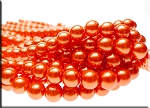 10mm Glass Pearls, HYACINTH ORANGE - CLEARANCE