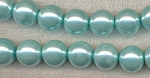 8mm Glass Pearls, POWDER BLUE Glass Pearls