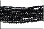 4mm Glass Pearl Round Bead Strand, JET BLACK