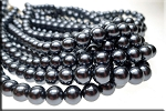 10mm Glass Pearls, DARK SLATE SILVER GREY Glass Pearls