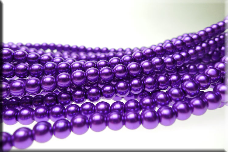 glass etsy purple pearls pearl market round beads il