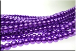 6mm Glass Pearls, PURPLE - CLEARANCE