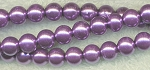 4mm Glass Pearls, LAVENDER PURPLE Glass Pearls