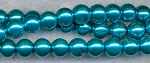 4mm Glass Pearls, TEAL BLUE Glass Pearls