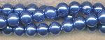 8mm Glass Pearl Round Bead Strand, SILVER BLUE