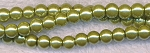 4mm Glass Pearls, LIGHT OLIVE GREEN Glass Pearls
