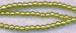 4mm Glass Pearls, GOLDEN CHARTREUSE Glass Pearls
