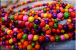 6mm Round Multicolor Howlite Beads