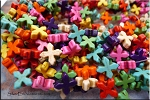 Pinwheel Cross Beads, 15mm Multicolor
