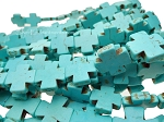 Turquoise Cross Beads, 20mm
