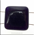Jade Beads, Dark Purple Jade Separator Beads, 22mm 2-Hole