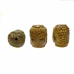 Carved Jade Buddha Pendant, Buddha Focal Bead, Jade Beads 28x22mm (1) - CLEARANCE