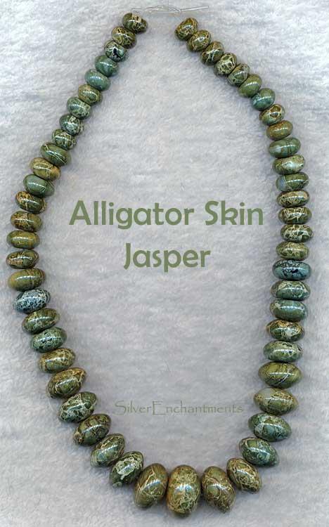 Alligator Jasper Beads Graduated Rondelle 10 20mm