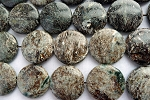 Mica Jasper Beads 25mm Coin Beads, Gemstone Beads - CLEARANCE